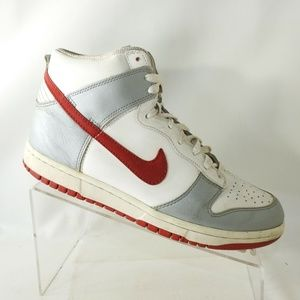 Nike Size 8 M Gray White Red Basketball L2 C29